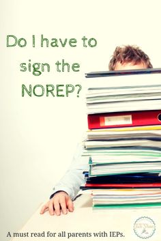 Many parents who have kids with IEPs do not fully understand the importance of the NOREP. This is a must read if you attend IEP meetings for your child with special needs or autism or ADHD.