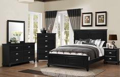 Superb 5 pc Jaxson collection transitional style espresso finish wood queen bedroom set with upholstered headboard . This set includes the Queen bed, Nightstand, Dresser, Mirror and Chest. Master Bedroom Set, King Bedroom Sets, Queen Bedroom, Bedroom Furniture Sets, Queen Size Bedding, Bedroom Decor, Black Furniture, Bella Furniture, Bedroom Ideas
