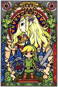 Legend of Zelda Stained Glass Updated - Imgur