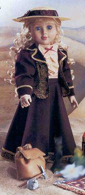 """Stardust Classics Kat Silk Coat /& Cap Just Pretend Carpatina 18/"""" Dolls New!"""