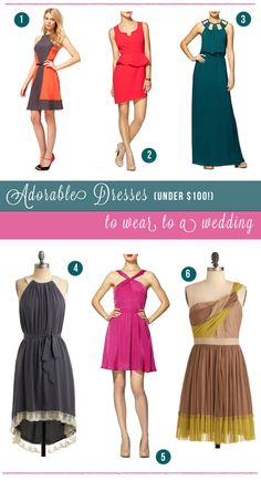 Dresses under $100 to wear to a wedding