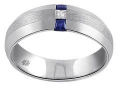 .30 Carat Lex Mans Diamond & Sapphire Wedding Band