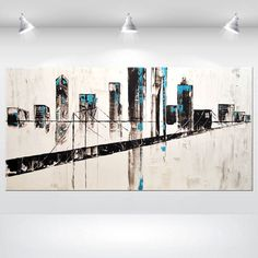 14 by 18-Inch ArtWall  Art Appealz Dean Uhlinger Geometry Rising Removable Graphic Wall Art