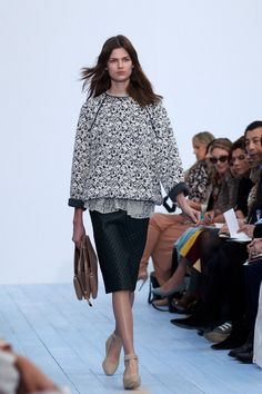 Chloe fall/winter 2012   Love the combination of textures, subtle but distinct.