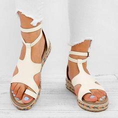 3aeedb32211 Casual Espadrille Adjustable Buckle Sandals – judedress