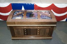 Custom Navy Shadow Box Sea Chest by Jerry Finished on Jun 13, 2014