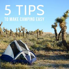 Oleander and Palm: 5 Tips to Make Camping Easy