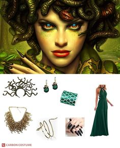 Medusa Halloween Costume, Cute Halloween Costumes, Halloween Looks, Diy Costumes, Halloween Makeup, Halloween Ideas, Halloween Party, Medusa Makeup, Medusa Hair