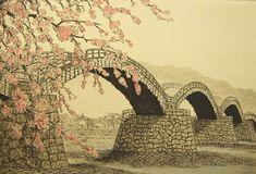 Norikane Hiroto il ponte di Kintai-kyo in primavera (grazie a Biblioteca dell'Estremo Oriente)