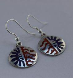 Mexican Earrings Sun and Moon