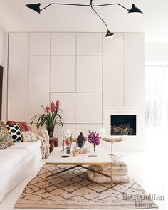 Luxuriate in the Living Room. White. Interior Designer: unknown.