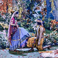Image may contain: one or more people, shoes and outdoor Radha Krishna Holi, Radha Krishna Love Quotes, Cute Krishna, Radha Krishna Pictures, Krishna Photos, Radha Rani, Krishna Art, Radhe Krishna Wallpapers, Lord Krishna Wallpapers
