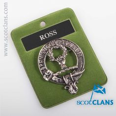 Ross Clan Crest Cap Badge. Free worldwide shipping available