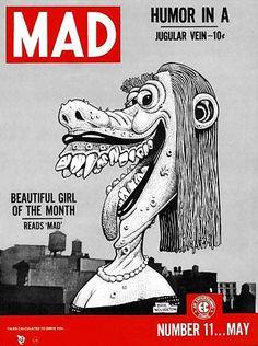 Humor in a jugular vain Comic Book Covers, Comic Books Art, Comic Art, Basil Wolverton, Mad Magazine, Magazine Covers, Life Magazine, Magazine Wall, Graffiti