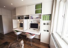 Zostava nábytku v pracovni Home Office, Office Desk, Interior Architecture, Corner Desk, Loft, Bed, Furniture, Home Decor, Architecture Interior Design