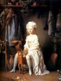 Image: Louis-Léopold Boilly, La Toilette Intime ou la Rose Effeuille…