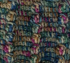 Ravelry: The Tunisian Bobble Stitch pattern by Karen Whooley