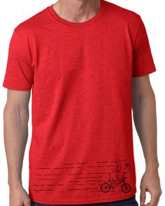 Gildan Adult Softstyle T-Shirt 64000 Antique Cherry Red Man And Dog, Mens Tees, Bike, Dogs, T Shirt, Clothes, Artisan, Birthday, Fashion