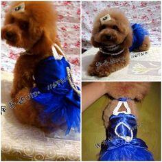 DIY Sapphire Blue Princess Dog Dress 1