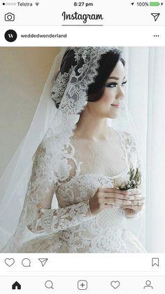 Wedding dresses vintage victorian and wedding dresses princess bling Headpiece Wedding, Wedding Veils, Wedding Bride, Unconventional Wedding Dress, Elegant Wedding Dress, Daisy Wedding, Dream Wedding, Vintage Bridal, Bridal Dresses