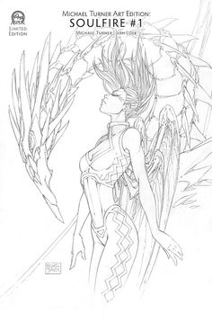 On the shelf for May is Michael Turner's Art Edition of Soulfire Created by Michael Turner the original characters were created between 2000 and 2002 with Soulfire (originally named … Comic Style Art, Comic Styles, Comic Art, Adult Coloring, Coloring Books, Aspen Comics, Michael Turner, The Originals Characters, Black N White Images