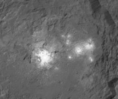New mosaic image of the bright spots in Occator crater on Ceres.