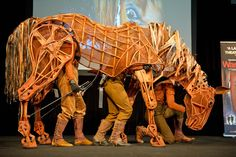 Joey the horse puppet from War Horse.