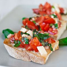 Bruschetta with Provolone Cheese - the perfect appetizer.