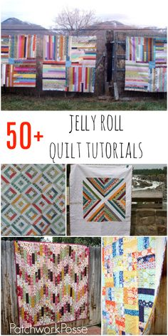 over 50 jelly roll quilt tutorials. I'm ready to open a j… over 50 jelly roll quilt tutorials. I'm ready to open a jelly roll now! Strip Quilt Patterns, Beginner Quilt Patterns, Jelly Roll Quilt Patterns, Strip Quilts, Quilting For Beginners, Patch Quilt, Quilting Tutorials, Quilting Projects, Quilting Designs