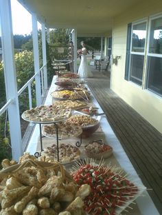 Wedding buffet w/bride walking out (this candid shot was unplanned and I love it!)