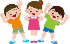 笑顔 イラスト | フリーイラスト] 手を振る子供 ...