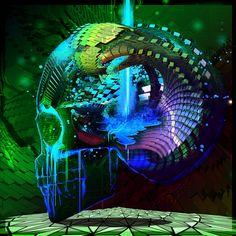 20 Psychedelic Skulls by Brian Pollett