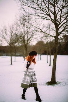 Walking In A Winter Wonderland In Vintage
