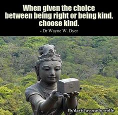 Are you right or kind?