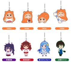 AmiAmi [Character & Hobby Shop] | Nendoroid Plus Rubber Strap - Himouto! Umaru-chan 8Pack BOX(Released)