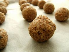 Banana Bliss Balls (Raw Food) from Food.com:   This unusual & interesting recipe comes from the internet! Great as a snack or dessert!