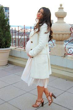 winter white, pregnancy , maternity outfit
