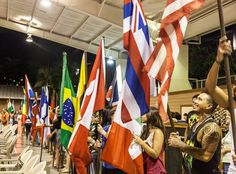 Flags of the nations - representing students from those nations at the 2016 second quarter welcome meeting. #ywamkonacontest #ywamkona #ywam #flags #kona #hawaiistagram #hawaiilife #hawaii by allenanjo http://bit.ly/dtskyiv #ywamkyiv #ywam #mission #missiontrip #outreach