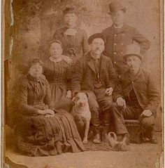 A photo from the 1880s showing the treasured place that the pit bulldog shared in family life. Notice how little the breed type has changed through time - this is common in working dogs, rare in show breeds.