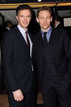 Tom Hiddleston and James D'Arcy at the gala screening of 'Cloud Atlas' (Mayfair, Curzon, London, UK February 18, 2013)