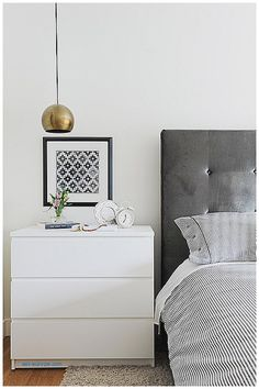 malm 3 drawer chest as nightstand