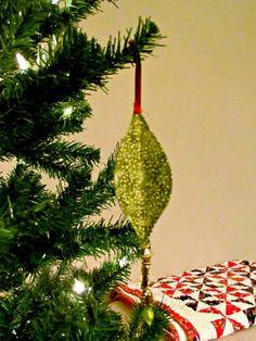 DIY Christmas ornament, Fabric Ornaments, Crafting, Sewing ornament, beaded Christmas ornament