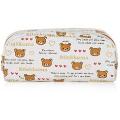 TopShop Rilakkuma Pencil Case ($14) ❤ liked on Polyvore featuring home, home decor, office accessories, cream, gold office accessories and topshop