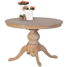 Alton Weathered Oak Round Extendable Dining Table