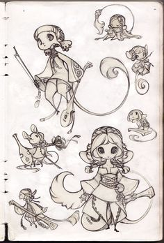 Potential race of peoples - Mice Sketches by sambees.deviantart.com on @deviantART