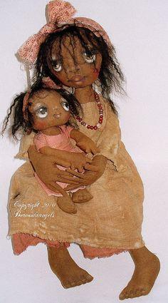 Ethiopian doll and baby--Suzie Hayward