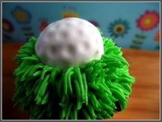 easy marshmallow fondant golf ball for cake