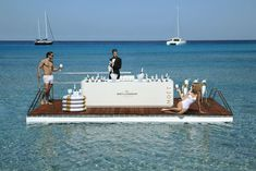 Moët Ice Impérial Life-Buoy Serving Tray For Summer Fun In The Pool