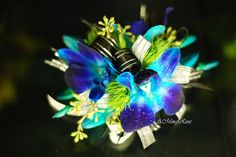 orchid corsage | Blue Orchid Wrist Corsage