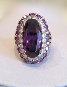 antique amethyst jewelry | Vintage Amethyst and Diamond Estate Jewelry by WOWTHATSBEAUTIFUL
